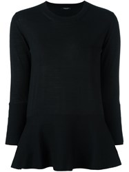 Roberto Collina Peplum Jumper Black