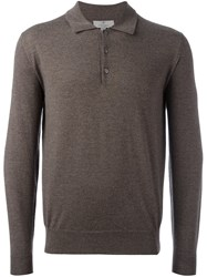 Canali Polo Jumper Brown