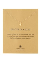 Dogeared Have Faith 14K Gold Dipped Sterling Silver Celtic Cross Pendant Necklace Metallic