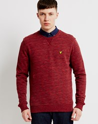 Lyle And Scott Space Dye Crew Neck Sweatshirt Red