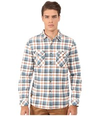 Rip Curl Avalon Long Sleeve Flannel Off White Men's Long Sleeve Button Up