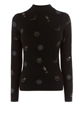 Coast Celyn Christmas Knit Top Black