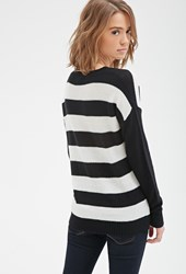 Forever 21 Wide Stripe Crew Neck Sweater