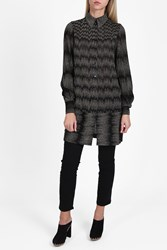 Missoni Zigzag Lame Tunic Shirt Bronze