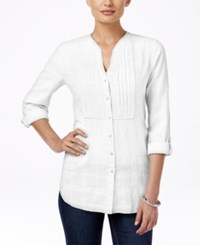Jm Collection Pintucked Shirt Only At Macy's Bright White