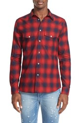 Givenchy Men's Extra Trim Fit Plaid Flannel Western Shirt