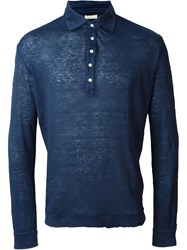 Massimo Alba Longsleeved Polo Shirt Blue