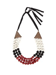 Zeus Dione Nefeli Silk Necklace Red Multi