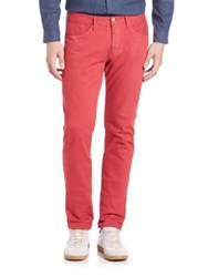 3X1 M5 Low Rise Selvedge Slim Fit Jeans Red