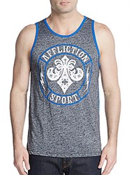 Affliction Snapdragon Graphic Tank Black