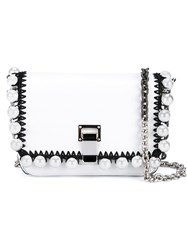 Proenza Schouler Extra Small Courier Embellished Leather Bag White
