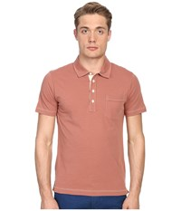 Billy Reid Pensacola Polo Terra Cotta Men's Clothing Orange