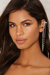 Bex Jeweled Ear Cuff Silver
