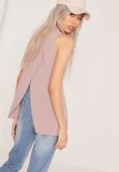 Missguided Wrap Back Tunic Lilac Mauve