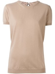N 21 No21 Rib Detail T Shirt Pink And Purple