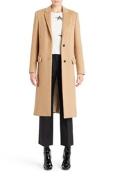 Women's Valentino Studded Camel Hair Coat