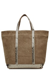 Vanessa Bruno Suede Tote With Sequin Embellishment Green