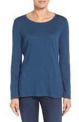 Caslonr Women's Caslon Long Sleeve Slub Knit Tee Blue Wing