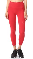 Lucas Hugh Technical Knit 7 8 Leggings Red