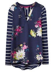 Joules Beatrice Jersey Top French Navy Floral