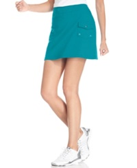 Style And Co. Sport. French Terry Cargo Skort Moroccan Tile