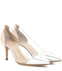 Gianvito Rossi Exclusive To Mytheresa.Com Plexi 70 Leather And Transparent Pumps Pink