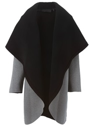 Norma Kamali Reversible Oversized Coat Grey