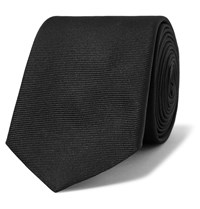 Givenchy Embroidered Silk Faille Tie Black