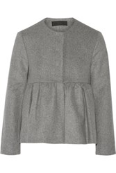 Co Wool And Cashmere Blend Peplum Jacket Stone