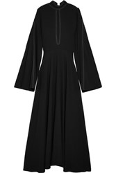 Beaufille Odas Cutout Pique Maxi Dress Black