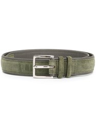 Orciani Suede Buckle Belt Green