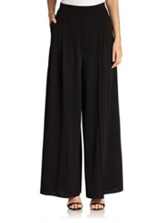Abs By Allen Schwartz Pleated Palazzo Pants Off White Black