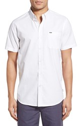 Rip Curl Men's 'Our Time' Trim Fit Short Sleeve Woven Shirt White