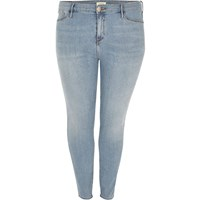 River Island Womens Ri Plus Light Wash Molly Jeggings
