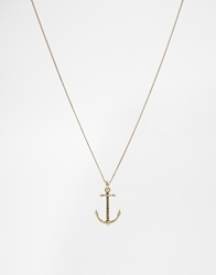 Icon Brand Anchor Necklace Gold