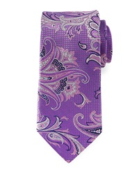 Robert Graham Rigid Square And Paisley Woven Tie Lilac