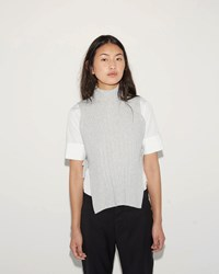 Maison Martin Margiela Felted Sleeveless Turtleneck Mist