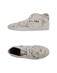 Le Crown High Tops And Trainers White