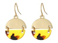 Lauren Ralph Lauren Riding High Metal Tortoise Disk Drop Earrings Tortoise Gold Earring Brown