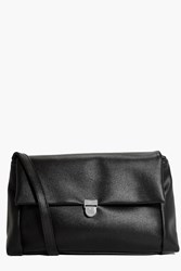 Boohoo Structured Fold Over Cross Body Bag Black