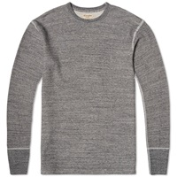 Homespun Long Sleeve Thermal Tee Charcoal