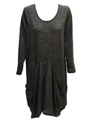 Feverfish Knitted Tunic Dress Grey Marl