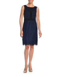 Karl Lagerfeld Floral Lace Sheath Dress Eclipse