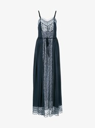 Chloe Sleeveless Polka Dot Print Maxi Dress Navy Black