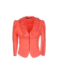 Annarita N. Suits And Jackets Blazers Women Coral
