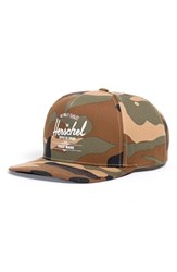 Herschel Men's Supply Co. 'Whaler' Snapback Baseball Cap Green Woodland Camo