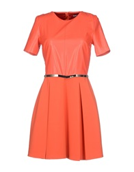 Betty Blue Short Dresses Orange