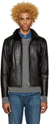 Nanamica Black Leather Cruiser Jacket
