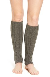 Hue Women's Cable Knit Leg Warmers Graphite Heather