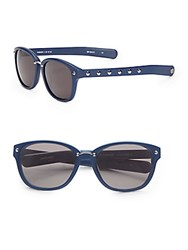 Rebecca Minkoff Hudson 57Mm Wayfarer Sunglasses Navy